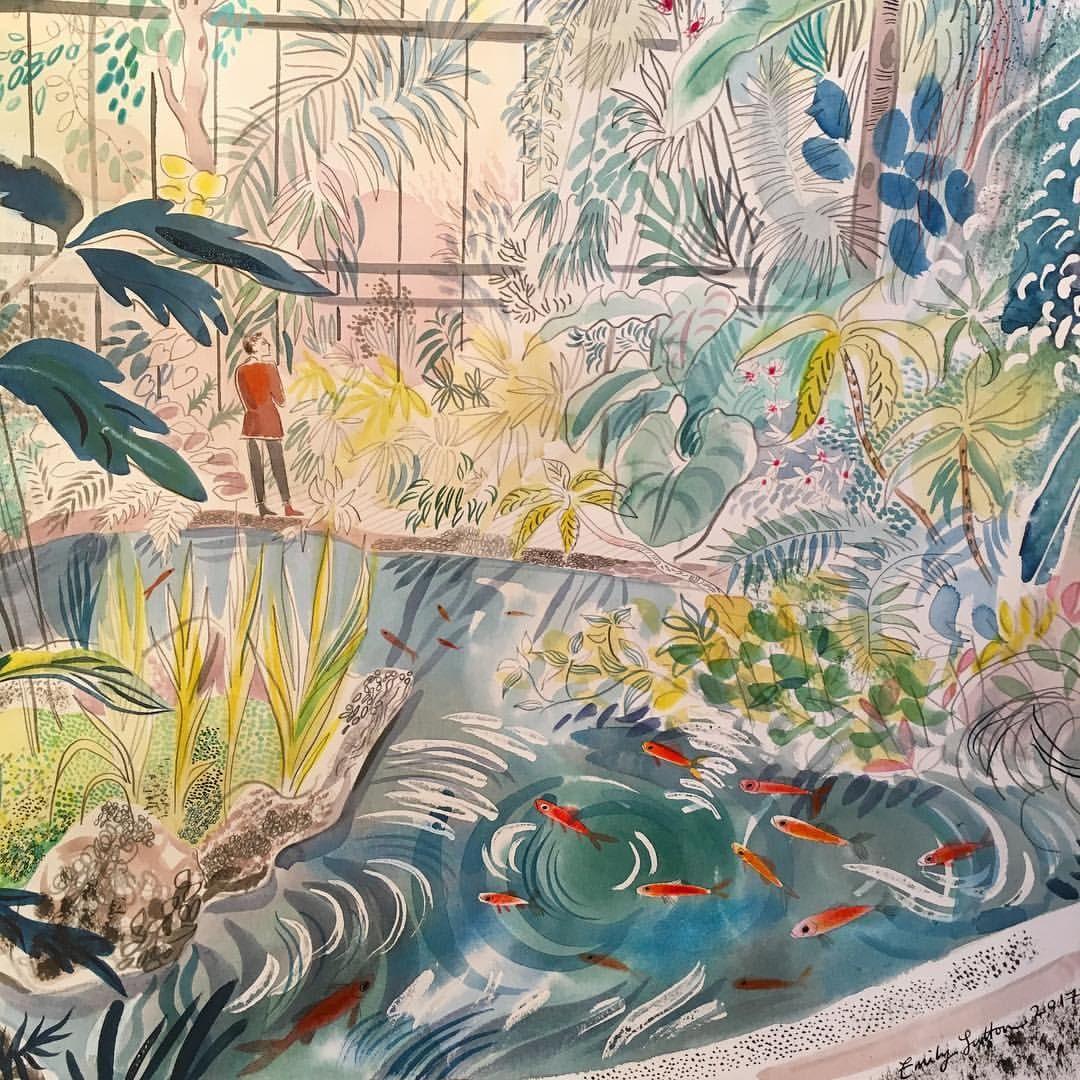 Glass House Jardin Des Plantes Art By Emily Sutton