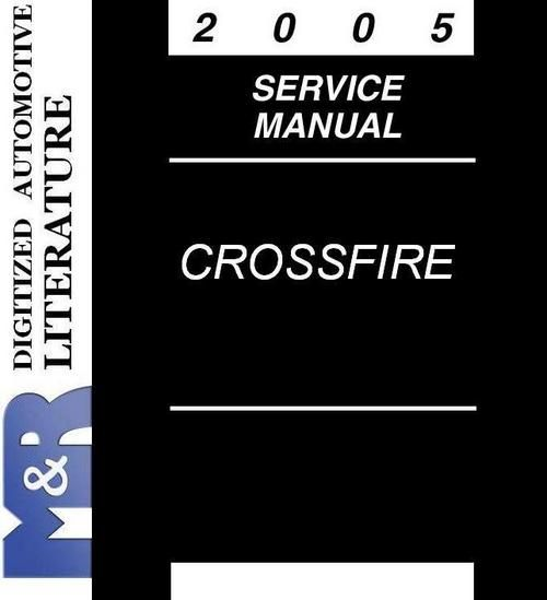 2005 chrysler crossfire wiring diagram 2005 crossfire   srt 6 chrysler zh original service manual  2005 crossfire   srt 6 chrysler zh