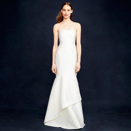 J.Crew Ivory Eva Modern Wedding Dress Size 4 (S) 51% off retail    Inexpensive wedding gown, Modern wedding dress, Affordable wedding dresses