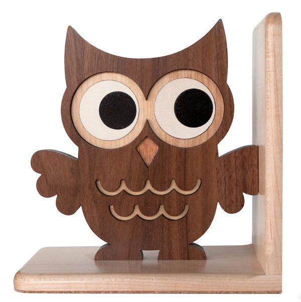 Wooden Owl Bookend Heirloom Kids Wood Bookend By Graphicspaceswood.