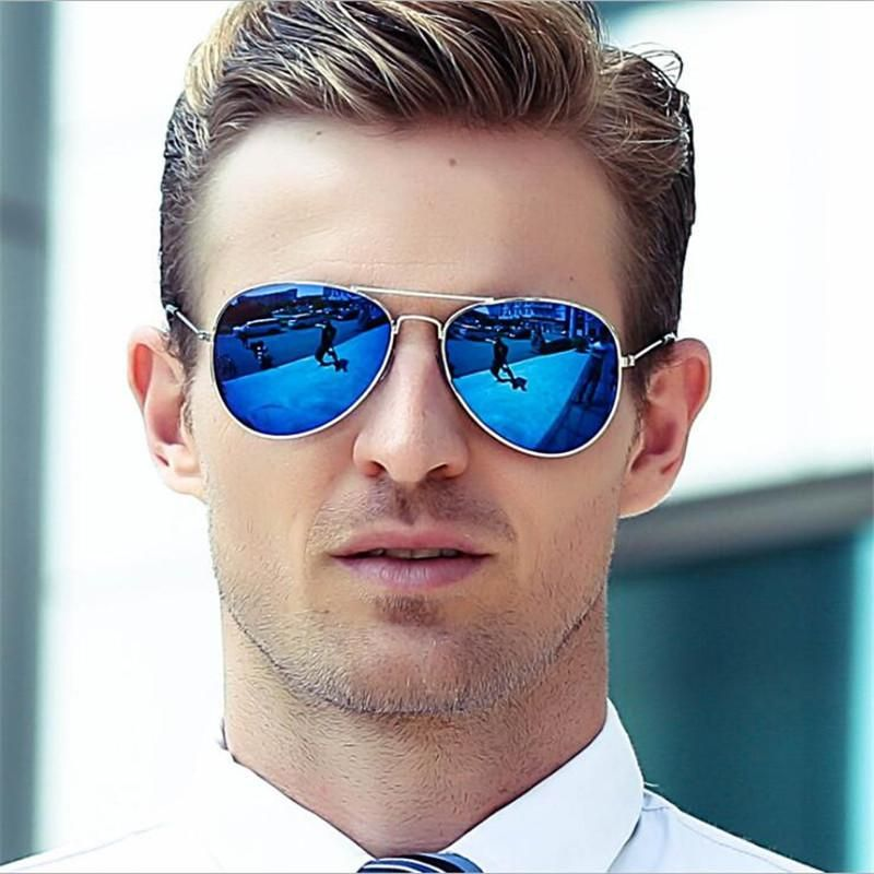 edae81ec4785 Pilot Sunglasses Men Women Brand Designer UV400 Outdoor Sport Sun Glasses  Goggles Gold Blue Mirror Oculos lunettes