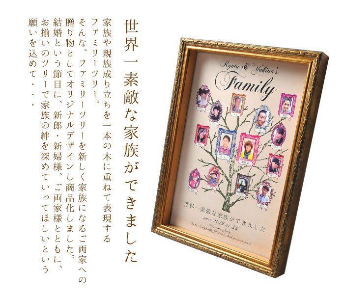 絶品 ファミリーツリー 家系図 両親へのプレゼント 両親