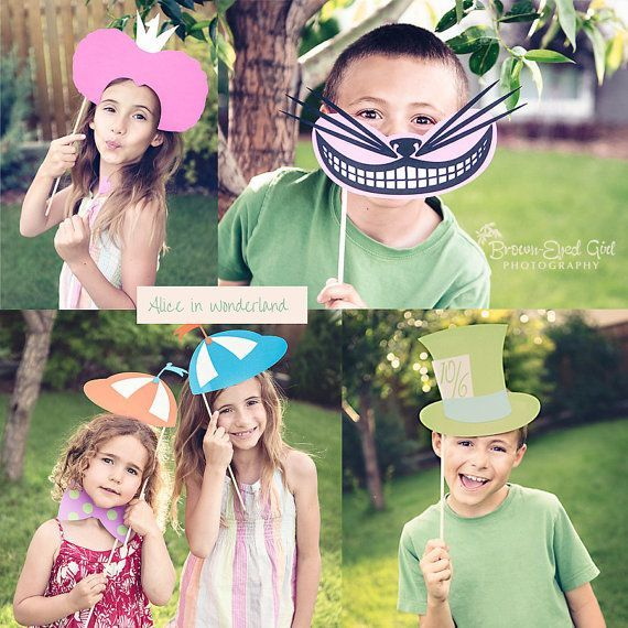 alice in wonderful diy kids party | Alice In Wonderland Party Colorful Photo Booth Props by windrosie, $28 ...