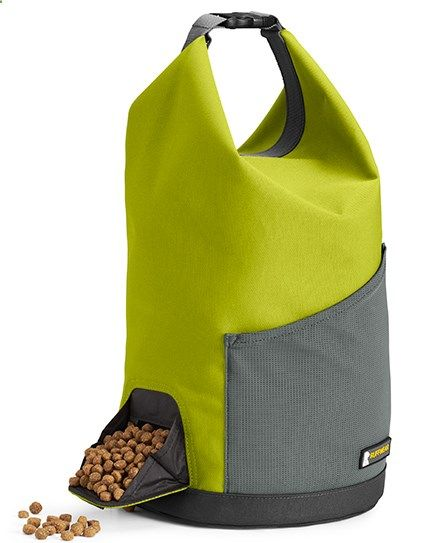 The Ruffwear Kibble Kad Is A Travel Friendly Dog Food Storage Bag Compact Convenient Design Allows For Easy Transport And Dispensing Of