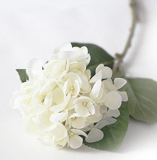 Hydrangea Single Stem Silk Flower Mermaid Wedding Decor (M