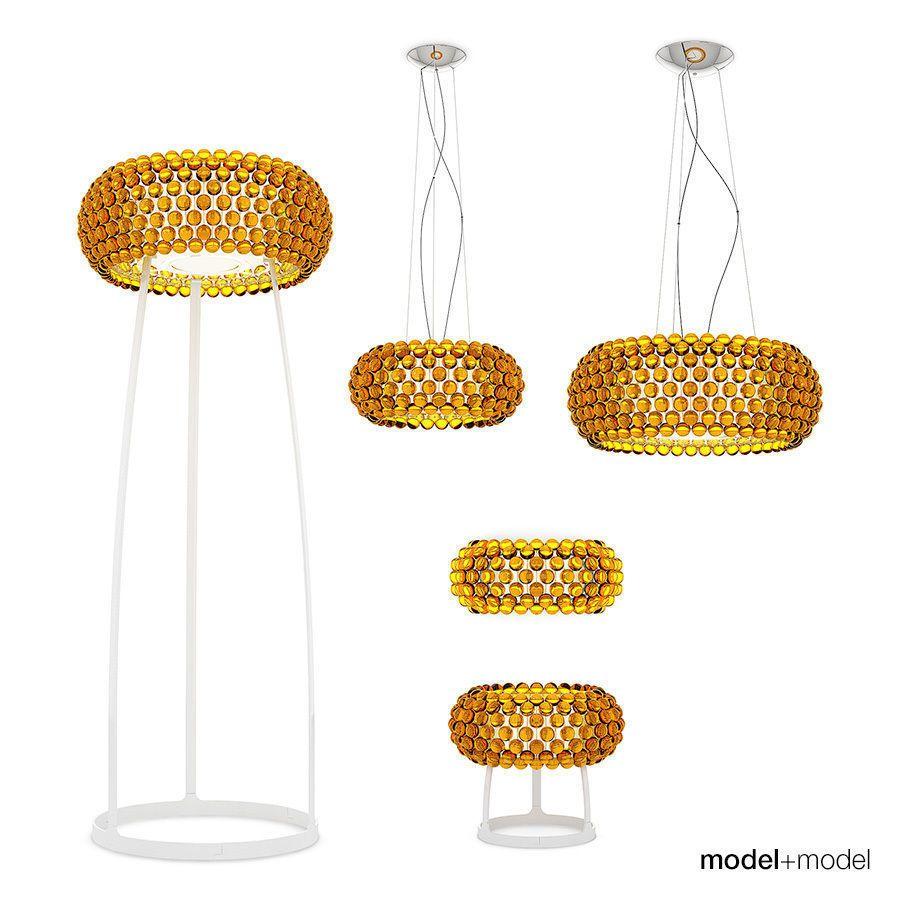 Lampe Caboche Patricia Urquiola foscarini caboche lamps | 3d model | lamp sets, interior