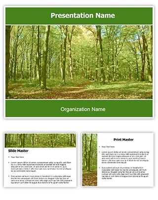 Make great-looking PowerPoint presentation with our Green Forest