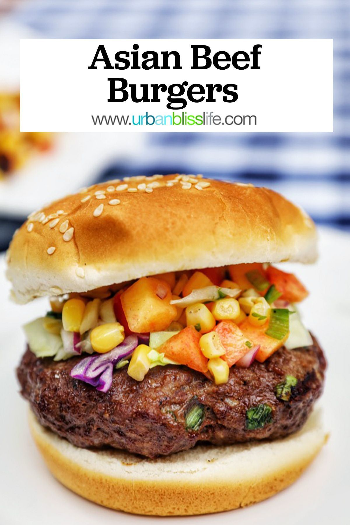 Asian Beef Burgers Recipe In 2020 Asian Beef Beef Burgers Healthy Beef Recipes