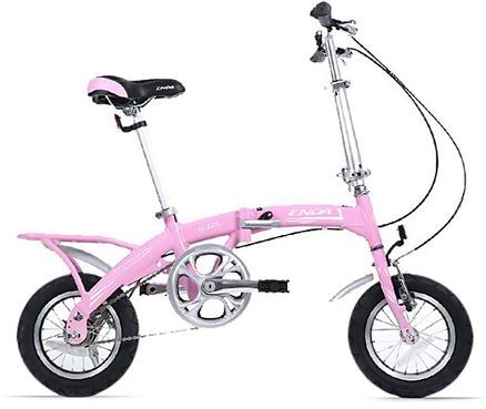 Pink Folding Bike