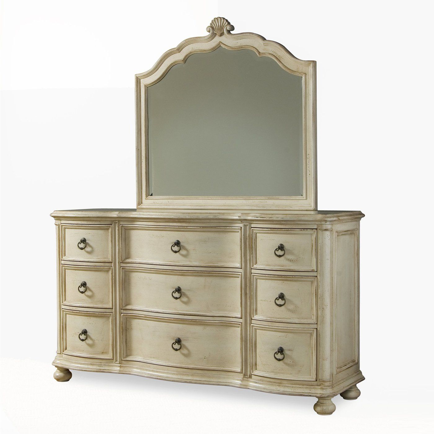 A.R.T. Home Furniture 2 piece Provenance Triple Dresser, Linen ...