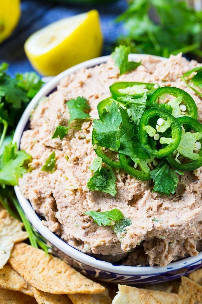 Smoky Jalapeno BlackEyed Pea Hummus Recipe Food, Hummus