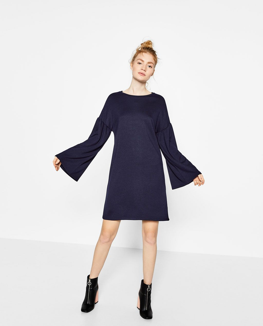 Image 1 of DRESS WITH SLEEVE FRILL from Zara