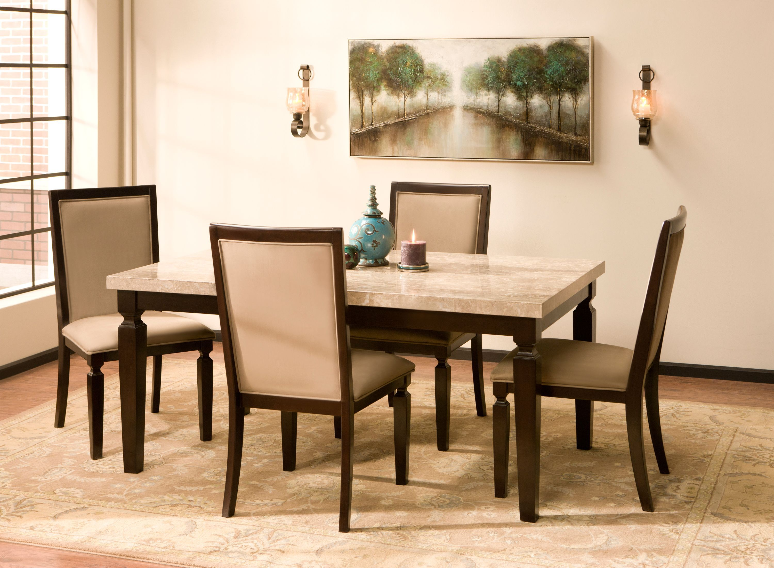 Rogue Marble Dining Set | This 5 Piece Marble Dining Set Will Make A  Beautiful