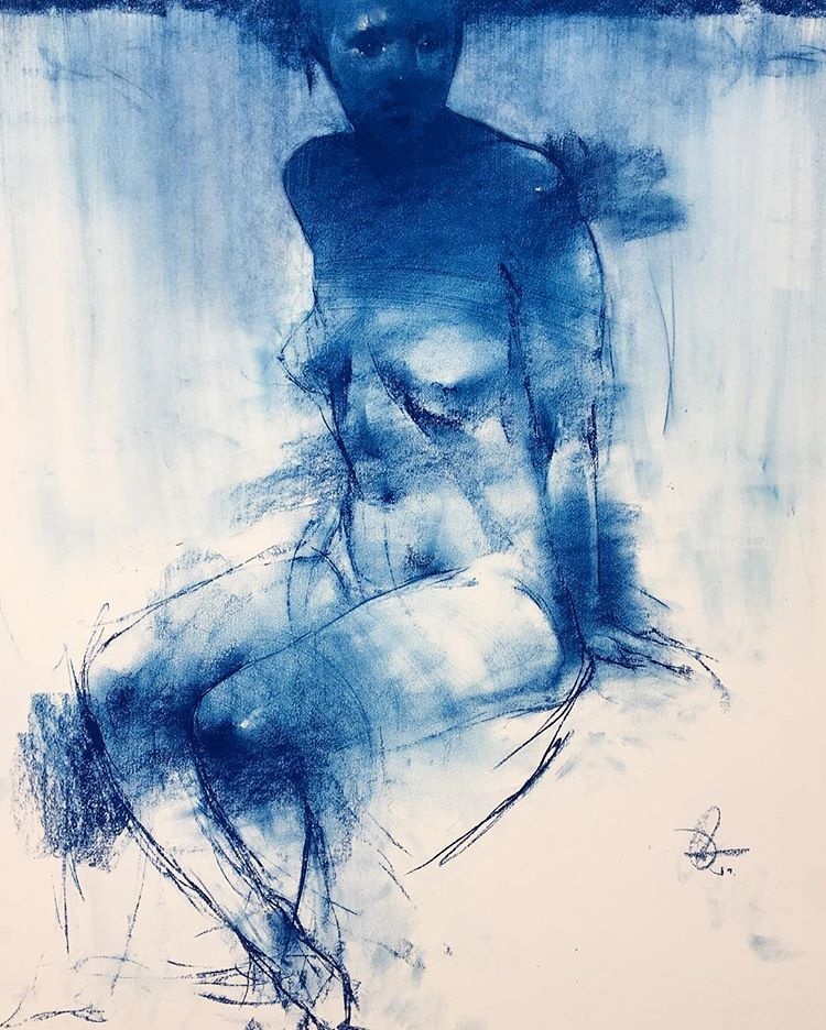 GEORGE DAWNAY Abstract Realism Pinterest Drawings, Figure