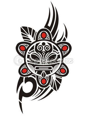 Sol Taino Tribal Tattoo 13 Taino Sun Tattoo Designs Tattoos