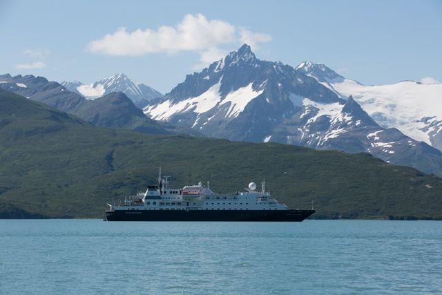 Silver Discoverer anchored in Kukak Bay.