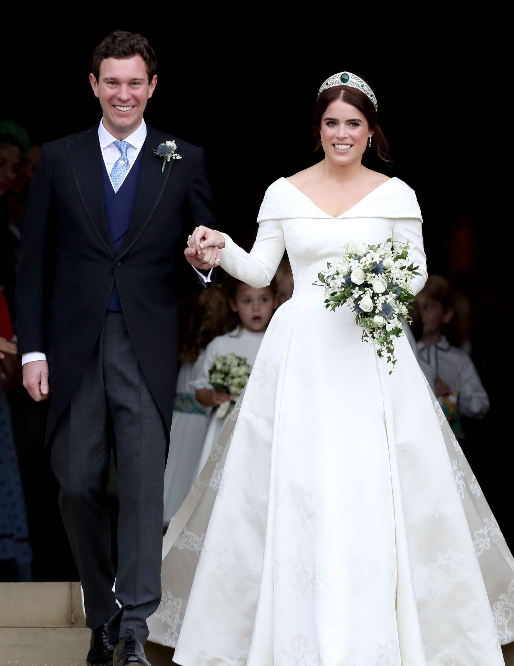 See princess eugenieus extravagant wedding gown from every possible