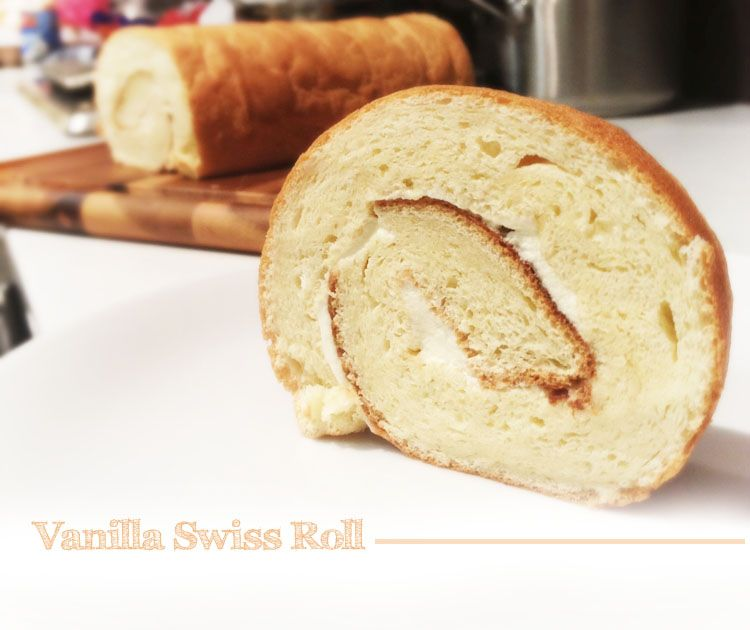 Swiss Roll with Vanilla Cream!
