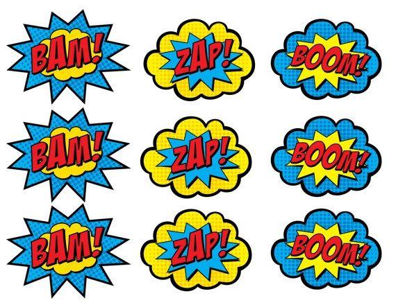 Superhero Clip Art Comic Bubbles Clipart Panda Free Clipart
