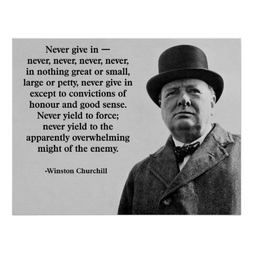 Churchill Never Give In Poster Zazzle Com Capitalism Quotes