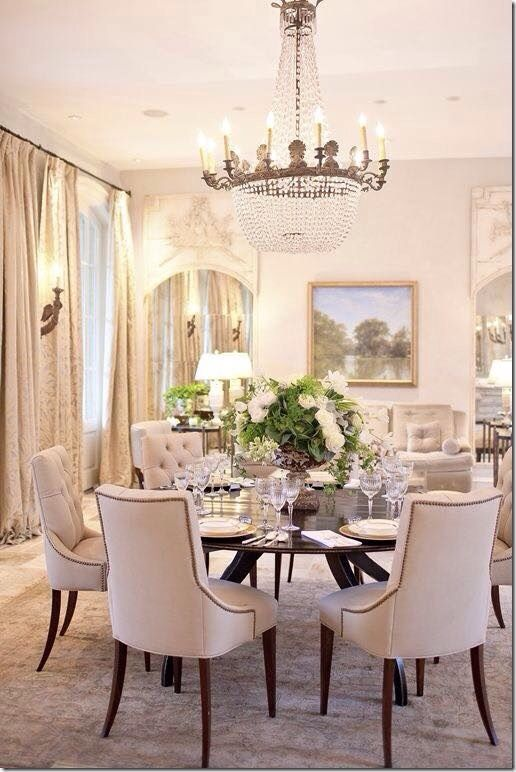 Elegant Dining Room Chandeliers Dining Room ~♡~  Decor  Dining Rooms  Pinterest  Room And House