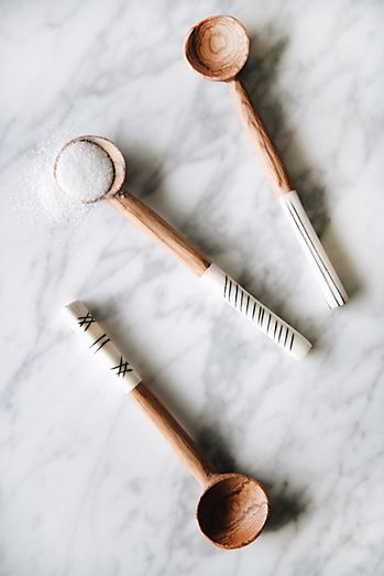Connected Goods Wild Olive Wood Sugar Spoon Set in 2020