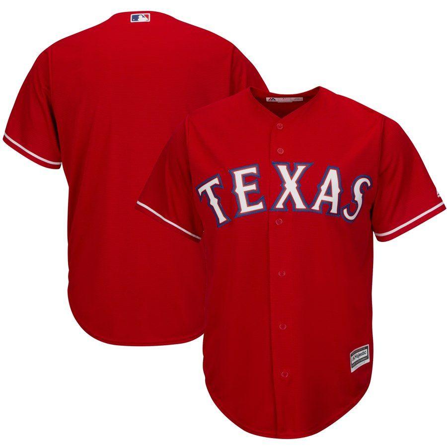 Men S Texas Rangers Majestic Red Alternate Cool Base Team Jersey Baseballjersey Rangersjersey Affiliate Texas Rangers Jersey Outfit Jersey