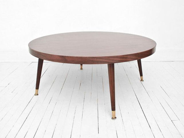 Round Mid Century Modern Coffee Table HOME Pinterest Modern