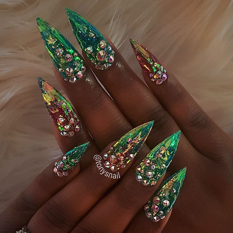 Mermaid nails design #allpowder design by Tony Ly | Nails ...