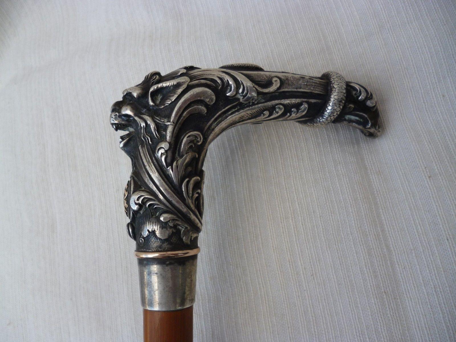 Beautiful Silver Walking Cane | eBay