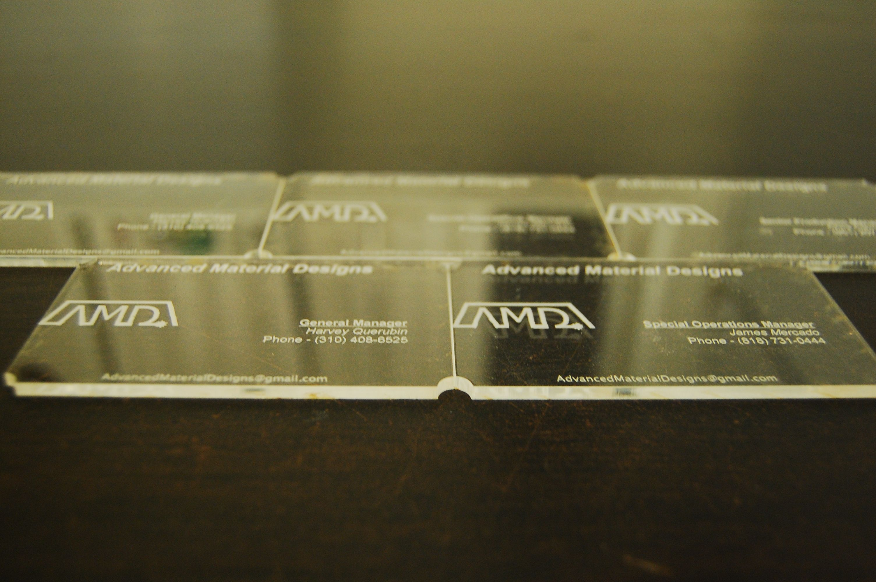 Specialized Acrylic Business Cards by AMD advancedmaterialdesigns ...