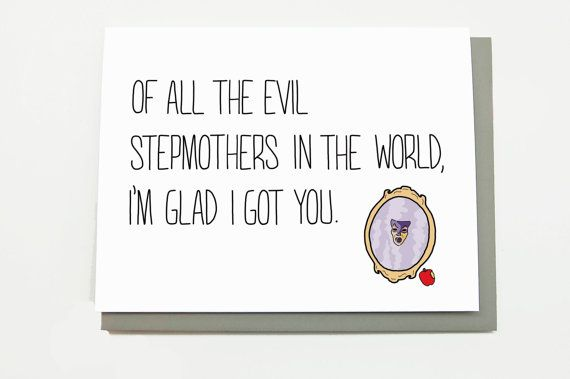 Funny Mothers Day Card For Stepmother