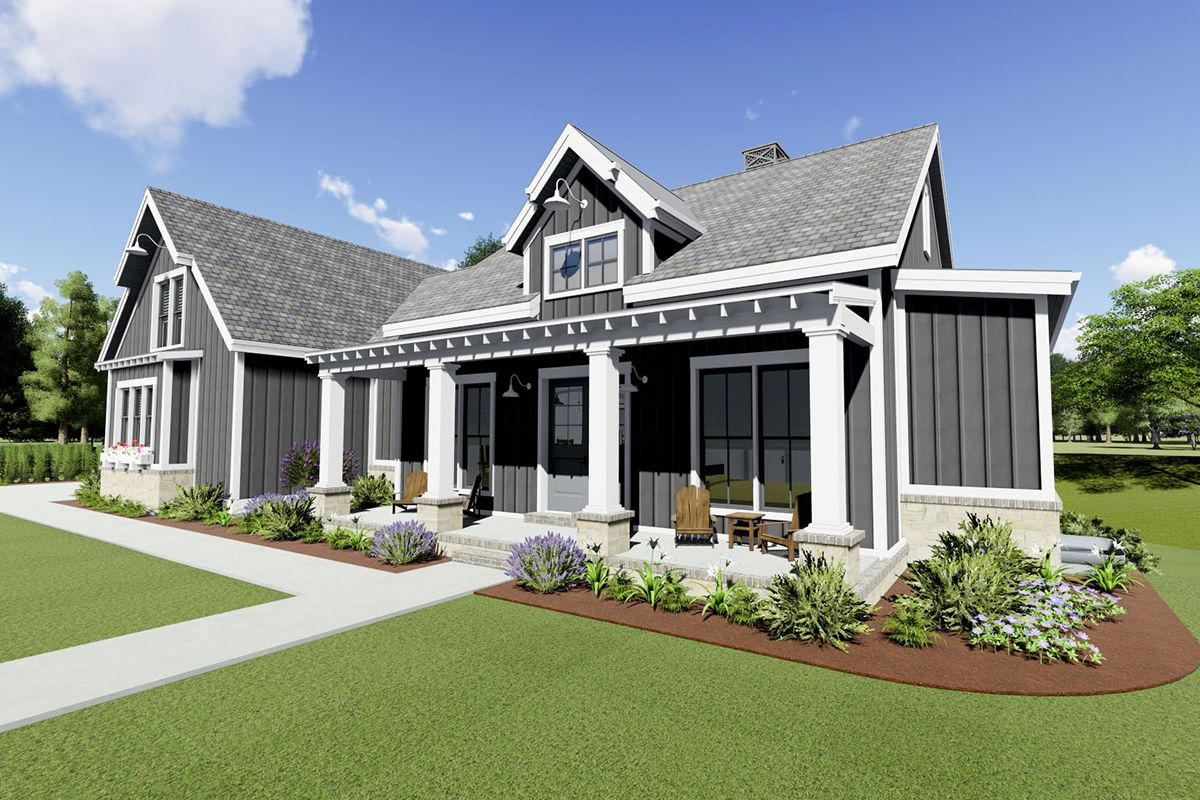 Plan 64471SC Farmhouse Plan for a Rearsloping