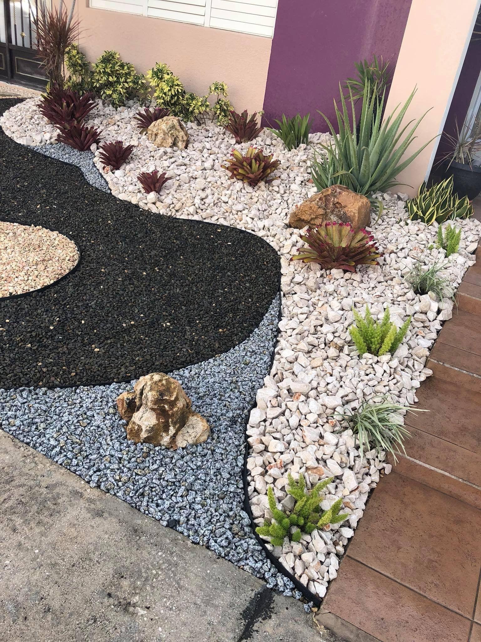 Pin by Desiree Ramos on Landscape ideas | Garden design ... on Gravel Front Yard Ideas id=81906