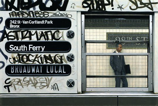 My Father in the Subway I by artist Max Ferguson
