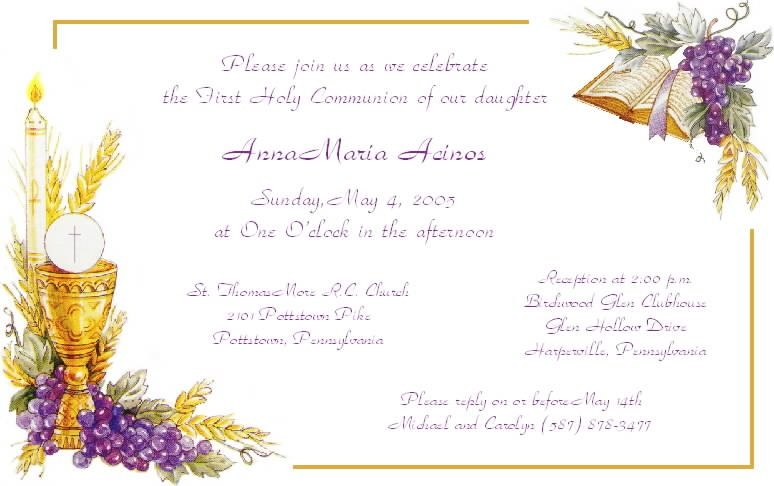 photo regarding First Communion Invitations Free Printable named holy chalice 1st communion template To start with Communion