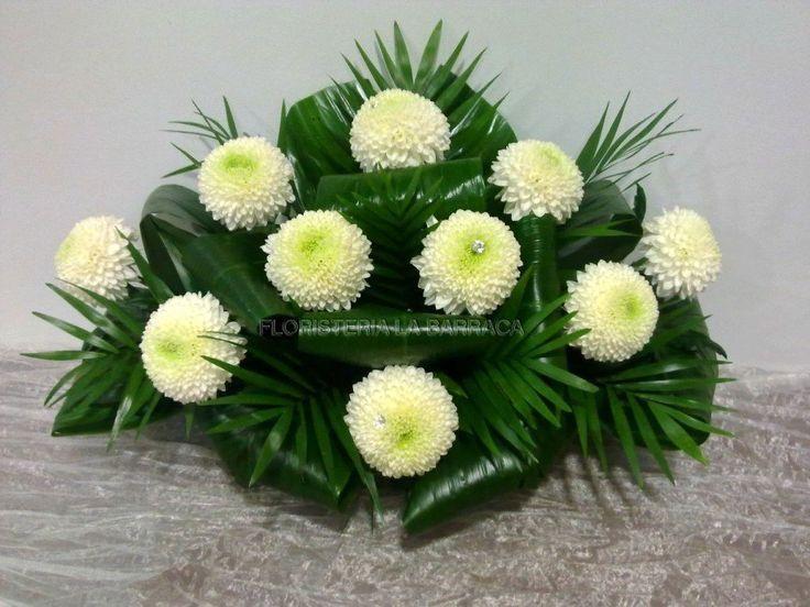 Arreglo Con Crisantemos Arreglos Florales Funerarios Bellos