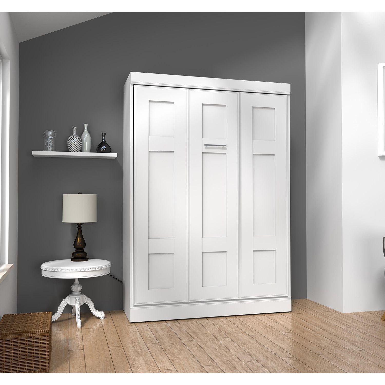 Best Edge By Bestar Wall Bed White Modern Murphy Beds 400 x 300
