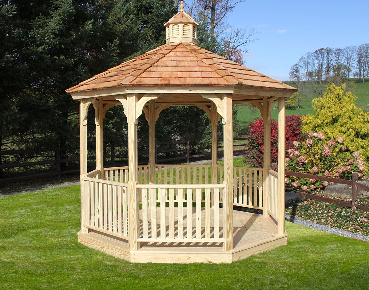 Economy Treated Pine Octagon Gazebo I D Love This Painted White