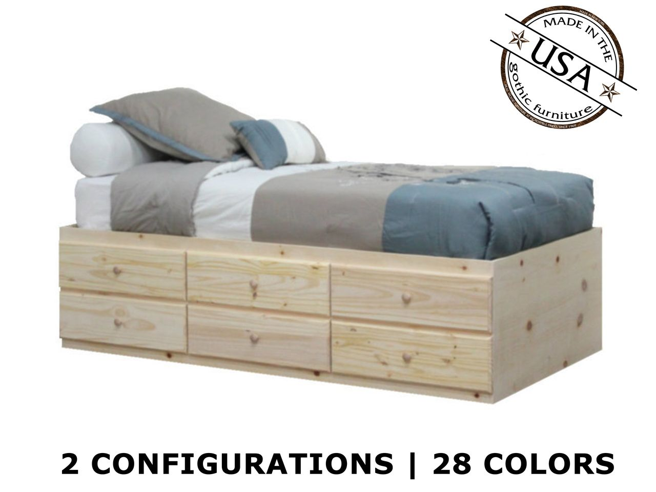 extra long twin storage bed pine wood twin storage bed storage