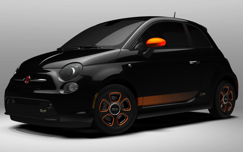 Fiat 500e Electric Black And Orange Fiat500