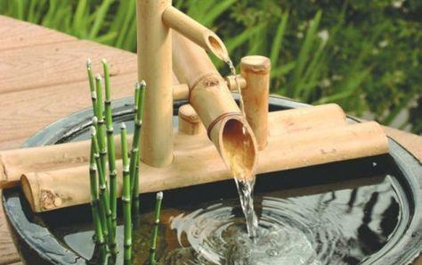 Wasserspiele Im Garten Ein Brunnen Aus Bambus Selber Bauen