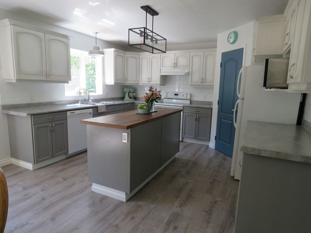 Our Kitchen Overhaul After Butcher Block Counter Wide Plank