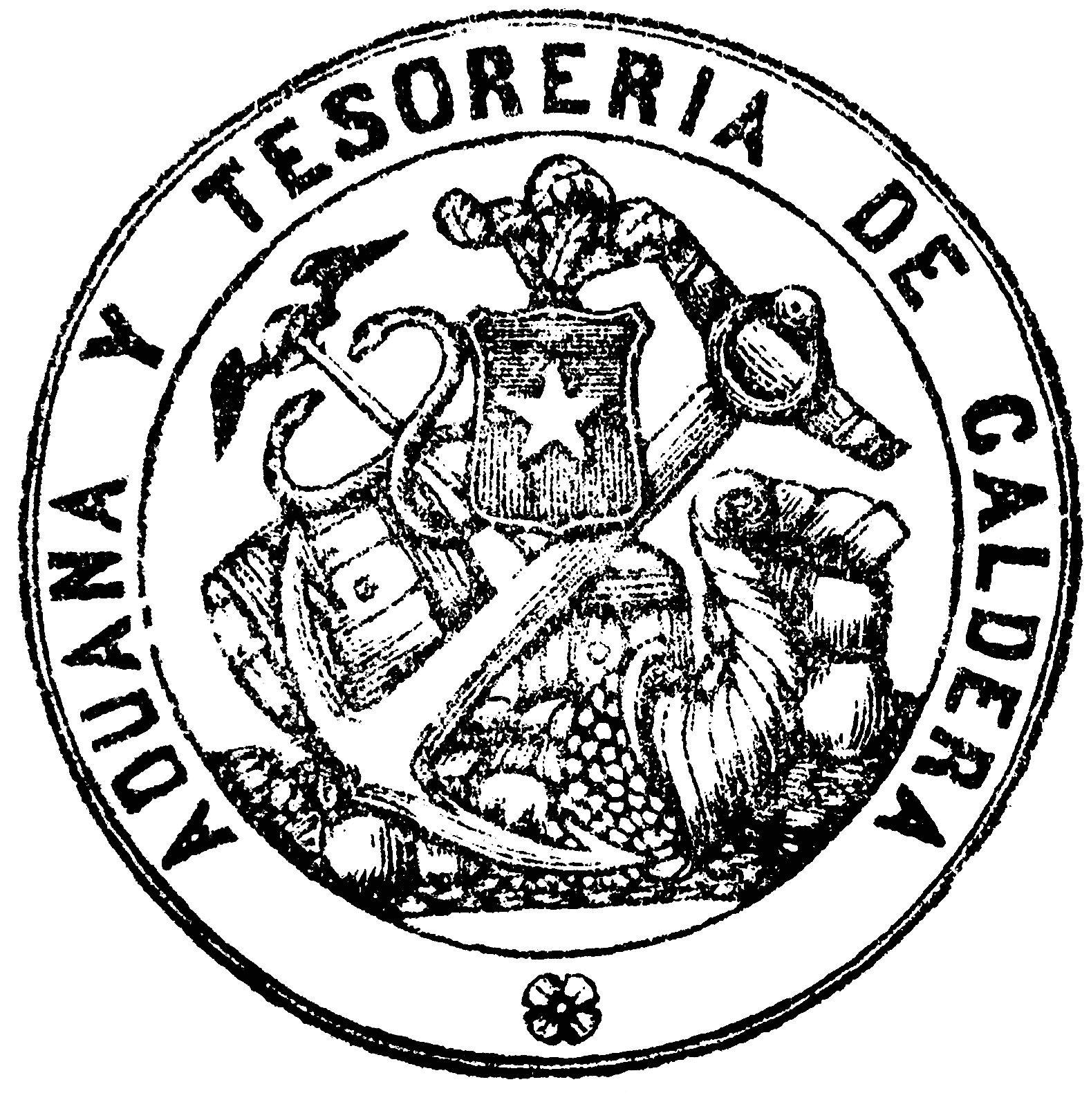 sello aduana y tesoreria general de caldera - 1864   imágenes para ...