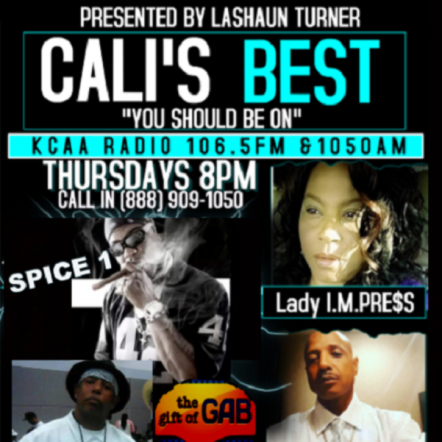 """CALI'S BEST Radio Show is an Urban Contemporary Talk Radio show hosted by Lashaun Turner aka Lady I.M.PRE$S of the Blaze Indie L.A TV Show. Focusing on today's BEST Music Entertainment, Business, Lifestyle & Trending Topics, the show broadcasts live each Thursdays at 8PM PST on KCAA 106.5 FM & 1050 AM to over 5 million potential listeners in the 13th largest market in the U.S, the Inland Empire.""""You Should Be On"""" with Lady I.M.PRE$S & the station that leaves no listener behind. To be a…"""