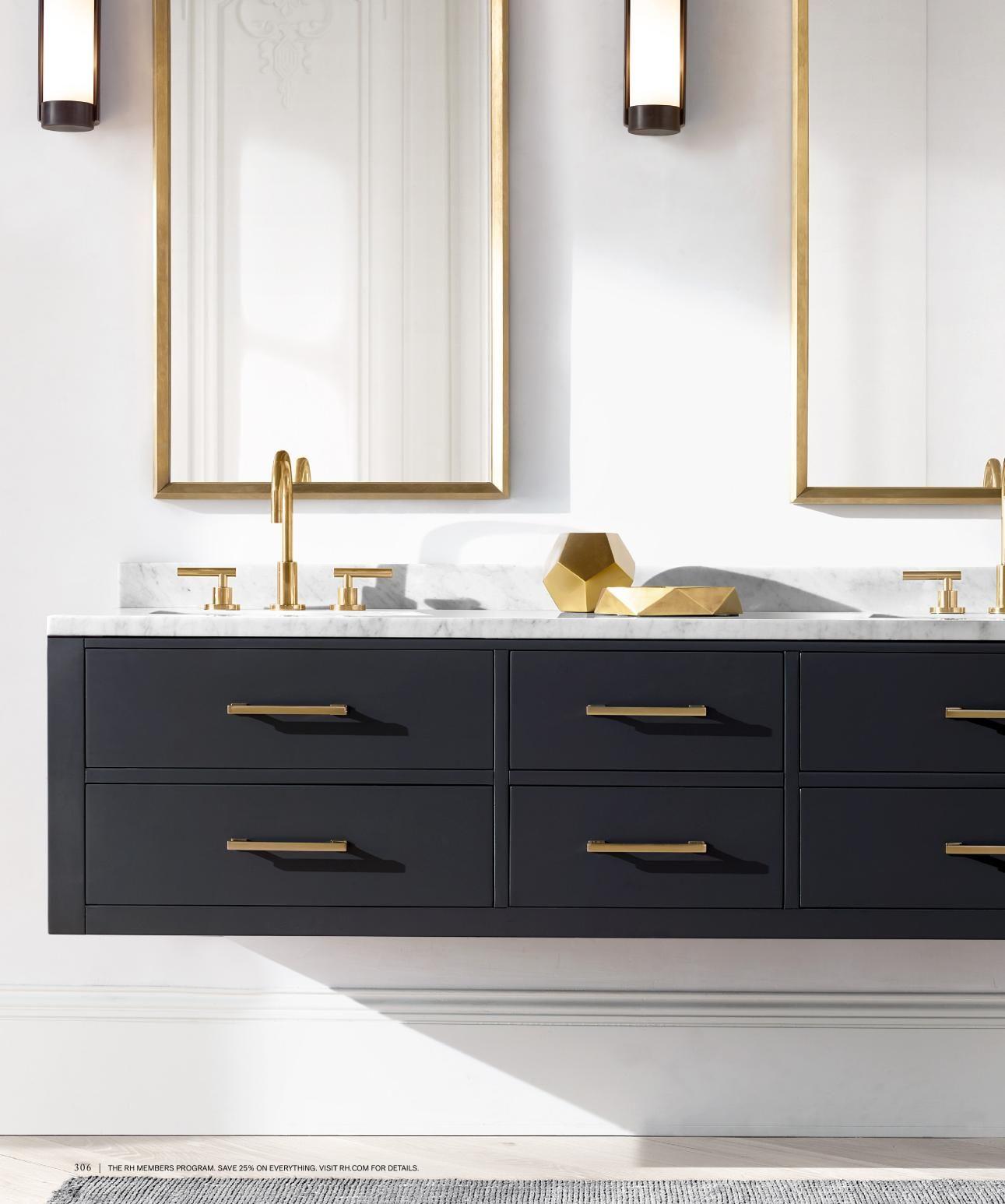 Rh Source Books Bathroom Vanity Bathroom Interior Design Floating Vanity