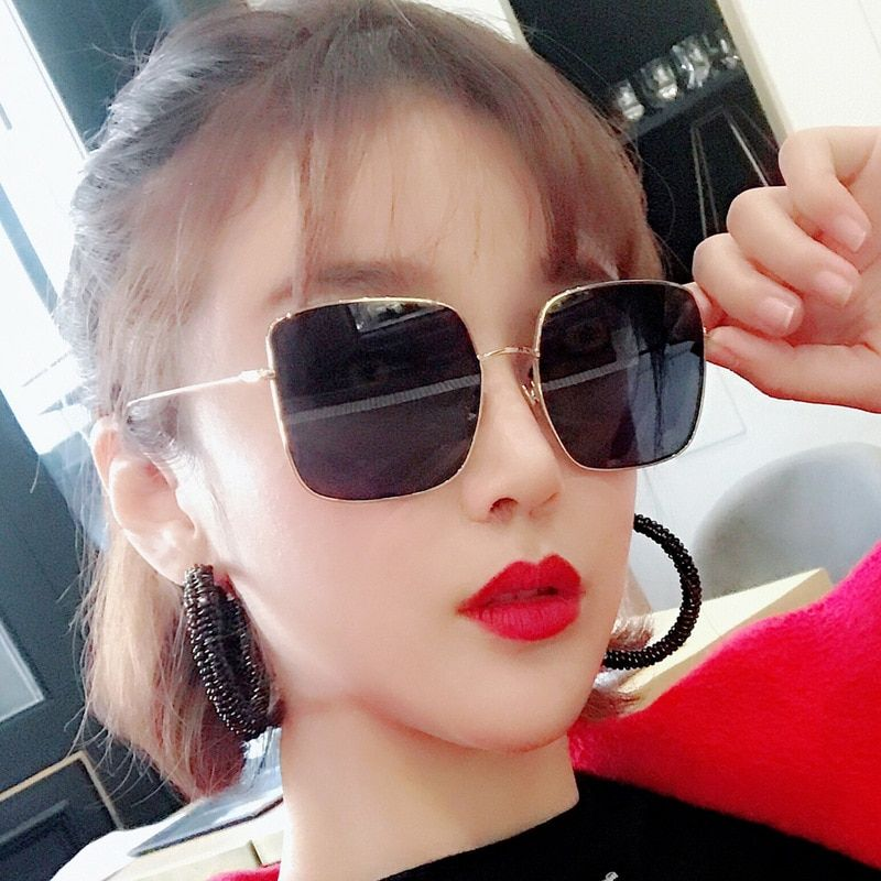 d9e363c8968 Vintage Sunglasses Women 2019 Big Frame Oversized Eye Sun Glasses Shades  for Women Luxury Cat Brand
