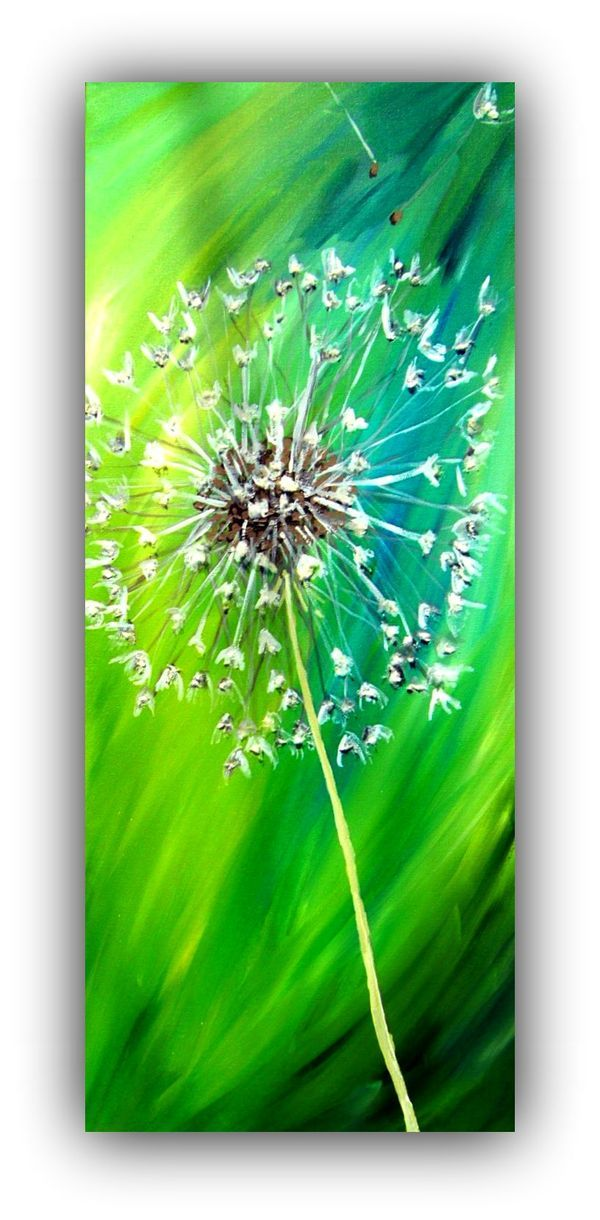 Kreativ Statt Bild Acryl Malen Pusteblume Painting Dandelion