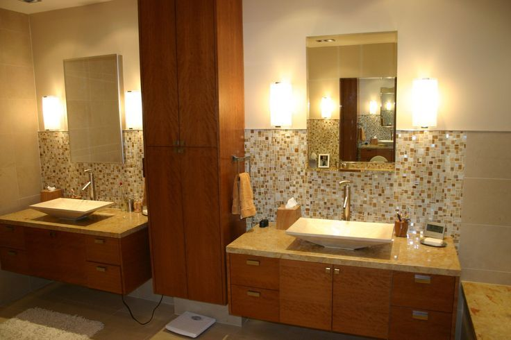 his and hers sinks in a custom built bathroom by Ferguson Fine Homes ...