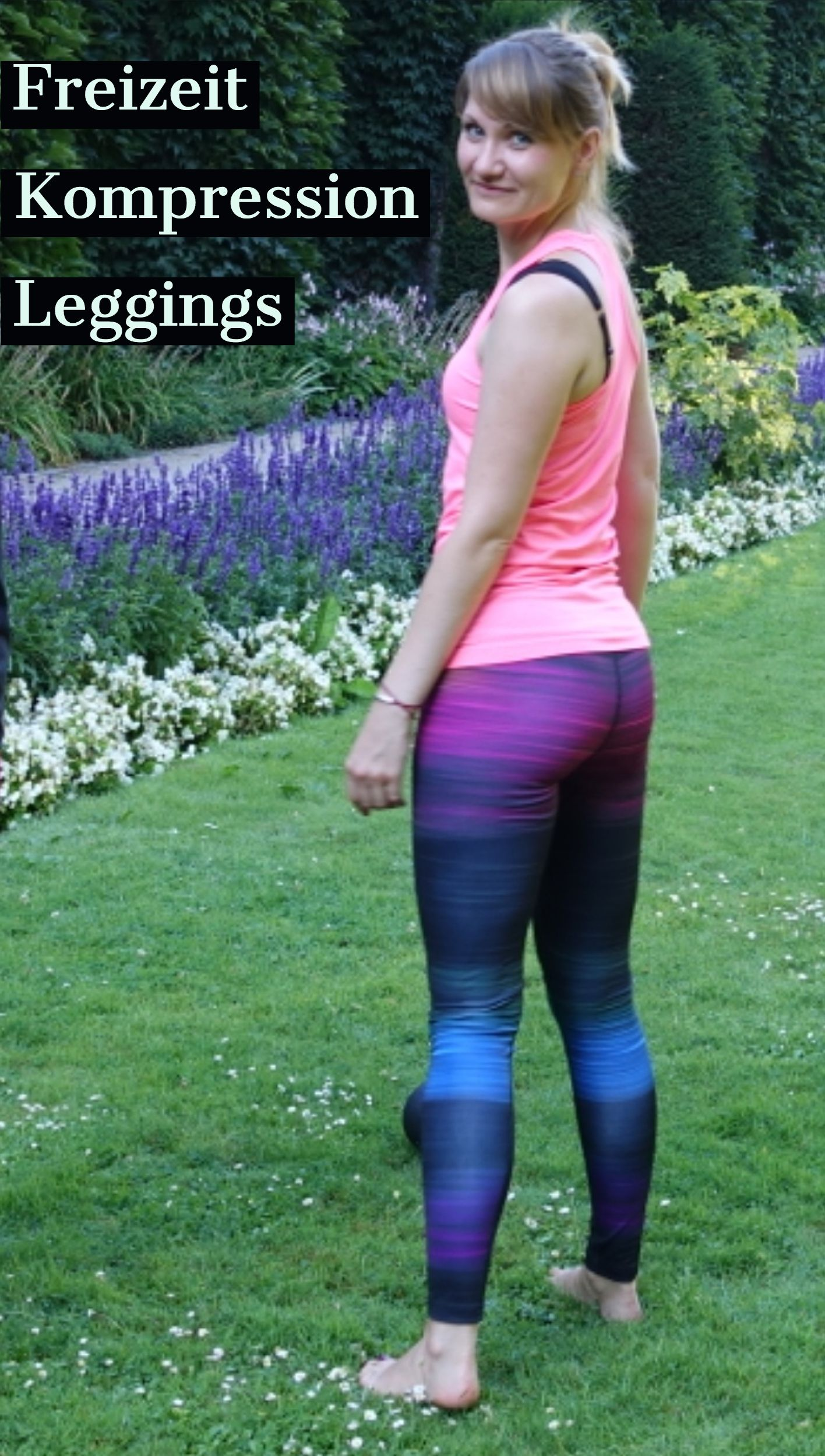 Gymnastik Training  /&  Fashion Blau Galaxy Leggings sehr dehnbar für Sport